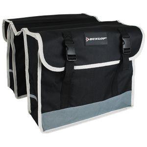 Dunlop Doppel Fahrradtasche wasserfest Fahrradtasche seitlich Gepäckträger Tasche Doppeltasche Fahrrad Seitentasche