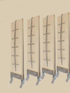 Flammlachsbretter Planke Räucherbretter 4 Stück mit Halter verstellbar