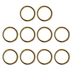 10 Stück geteilte Schlüsselanhängerringe Gold 15 mm