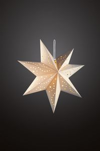 Papier Stern LED weiß 60 cm Weihnachten Deko Faltstern Beleuchtung Adventsstern
