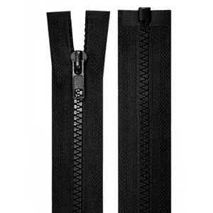 1 Reißverschluss Plastik-Kunststoff Profil 5mm 50 cm teilbar, Autolock, Farbwahl, Farbe:schwarz