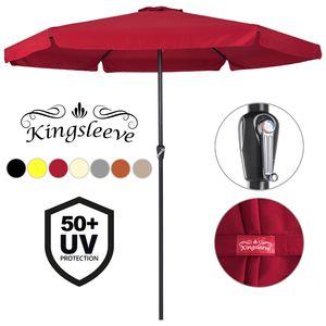 Sonnenschirm Ø330cm UV-Schutz 50+ Gartenschirm Kurbelschirm Marktschirm Schirm , Farbe:terracotta