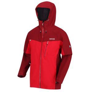 Regatta Regenjacke Outdoorjacke Herren Birchdale Wasserdicht und Winddicht, Größe:XXL, Farbe:Rot