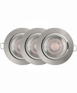LEDVANCE SPOT SIMPLE DIM LED Einbauleuchte Warmweiß Ø 8,7 cm Aluminium Grau 3-Flammig