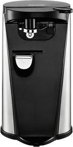 ONVAYA elektrischer Dosenöffner aus Edelstahl   3 Funktionen   Flaschenöffner   Messerschärfer   Deckelöffner