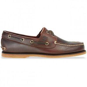 Timberland Classic 2 Eye Boat Sneaker Bootsschuhe Mokassin Braun Verschiedene Modelle, Schuhgröße:Eur 45; Farbe:25077 Dunkelbraun