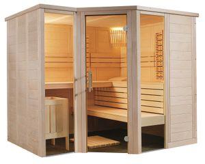 Sauna Massivholz Arktis Infra + HarviaSaunaofen Touch Steuerung