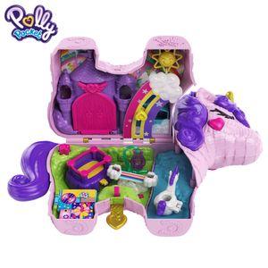Polly Pocket Einhorn-Party Spielset, Polly und Lila Puppe und über 25 Überraschungen