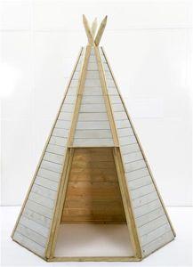 Indianerhütte Plum Tipi Holz Ø150xH230cm