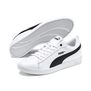 PUMA Smach Damen Low Sneaker Weiss Schuhe, Größe:40