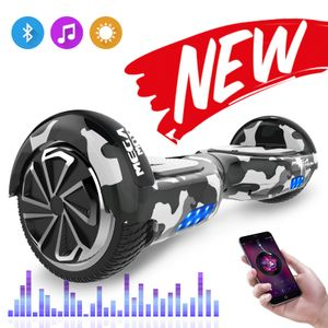 Mega Motion Hoverboard 6,5 Zoll Hoverboard mit Bluetooth Self Balance Scooter Smart Board 2x350W Motor LED Hoverboard für Kinder und Erwachsene