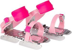 größenverstellbare Gleitschuhe / Kleinkinderschlittschuhe 24 - 34 rosa/fuchsia