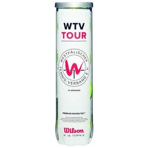Wilson Wtv Tourall Court Yellow 4 Balls