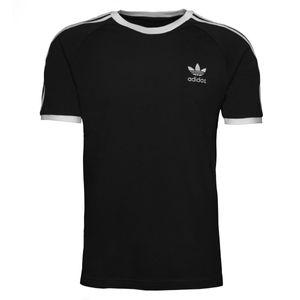 adidas Originals 3-Streifen T-Shirt Herren Schwarz (GN3495) Größe: M (48-50)