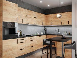 Küchenzeile U-Form, 325x215x130 cm ,LU-DZ, Soft Close Funktion,