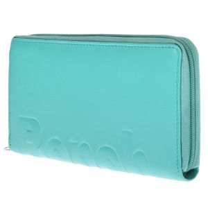 Bench Große XXL Damen Leder Geldbörse Portemonnaie Brieftasche Clutch mit RFID Schutz umlaufender Reißverschlus Türkis