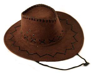 Western Cowboy Hut - Westernhut Fasching Western Erwachsene und Kinder Dunkelbraun - Erwachsener