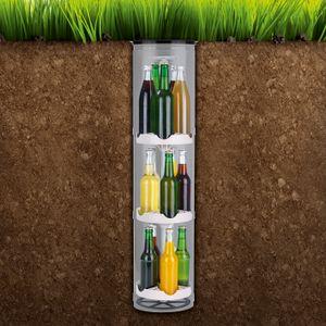 Flaschenkühler Bierkühler Getränkekühlschrank Garten 15 Flaschen Outdoor Erdloch