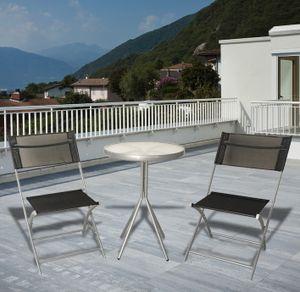 Westerholt 2564 Bistro Gartenmöbel Balkon Set 2 Stühle und 1 Tisch