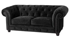Max Winzer Orleans Sofa 2-Sitzer - Farbe: schwarz - Maße: 196 cm x 100 cm x 77 cm; 2911-2100-2044140-F07