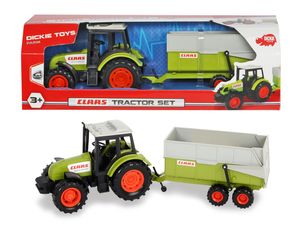 Dickie Toys - Spielfahrzeuge, Claas Tractor and Trailer; 203736004