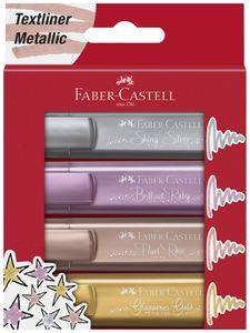 FABER-CASTELL Textmarker TEXTLINER 1546 Metallic 8er Etui