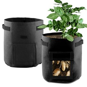 2 PCS Kartoffelbeutel Pflanzbeutel wachsen lassen Gartenpflanzgefäße für Kartoffelgemüse