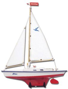 Modell Segelboot Move 39 x 50 cm weiß / rot