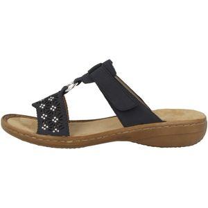rieker Damen Sandale Blau Schuhe, Größe:40