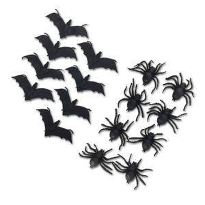 8 Deko Spinnen 8 cm / Fledermäuse 13 cm aus Gummi für Halloween, Variante:Fledermäuse