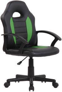 CLP Kinder Bürostuhl Femes höhenverstellbar, Farbe:schwarz/grün