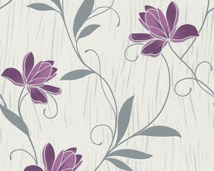 A.S. Création Tapete Chicago, metallic, violett, weiss, 10,05 m x 0,53 m, 306234, 3062-34