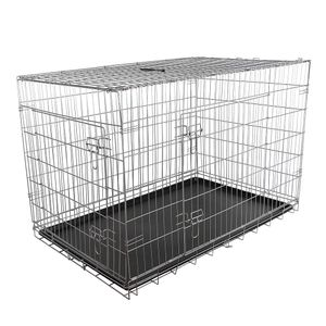 Melko Drahtkäfig Falltbar Hundetransportbox 120x80,5x75 cm Gitterbox Hundekäfig ??