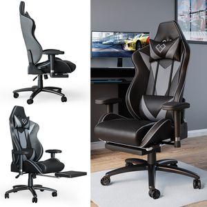 VICCO Gaming Chair SIRIUS Racing Stuhl Bürostuhl Chefsessel Fußstütze Kunstleder