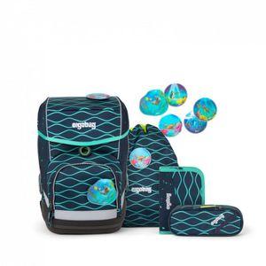Ergobag Schulrucksack Set (5-tlg.) cubo, BlubbBär, Farbe/Muster: Petr