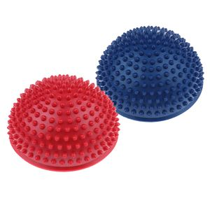 2pcs Balance Igel Noppenball Fitness Halbkugel Den Heimgebrauch Blau & Rot