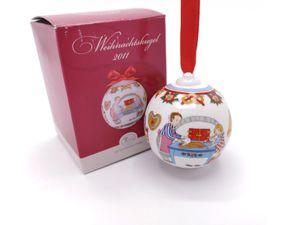 Porzellankugel Weihnachtskugel 2011 - Hutschenreuther - in