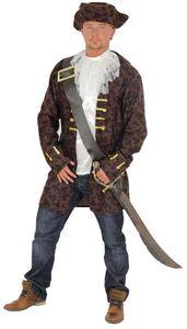 edler Pirat Freibeuter Kostüm für Herren Gr. M-XXXXL, Größe:XXXXL