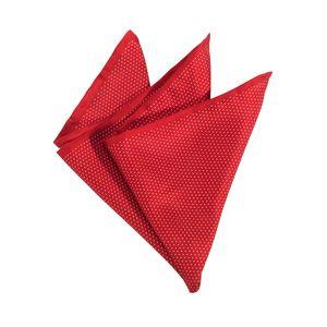 Olymp Einstecktuch rot mit feinen Punkten, Einheitsgroesse:one size