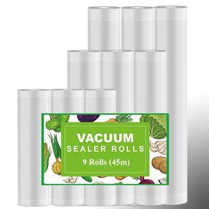 9 Vakuumrollen Vakuumierfolie Vakuumierbeutel für alle Vakuumierer Vakuumiergerät Folienrollen Set BPA frei & LFGB-zugelassene