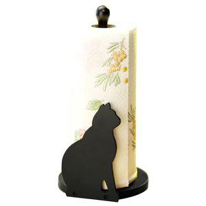 Küchenrollenhalter Rollenhalter Katze-stehend Schwarz