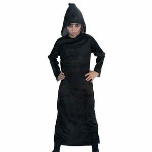 Halloween Kinder Sensenmann Robe mit Kapuze / Reaper Kostüm Gr.140