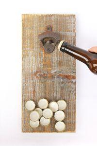 DanDiBo Flaschenöffner 5090 mit Magnet Bieröffner 32 cm Wandflaschenöffner Öffner