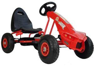 Kinder Go Kart Super Speed Champion Predator Tretauto Gokart Luftreifen 3-8 Jahre Rot