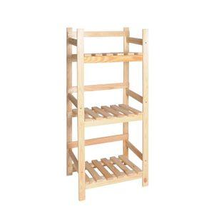 VINCASA: Holz-Regal für Getränkekisten / Getränkekisten-Ständer