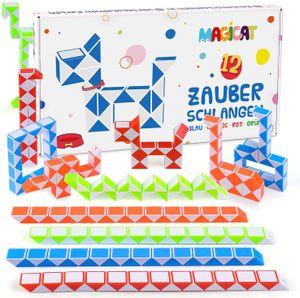 Magicat Premium Magic Snake Set, 12 magische Schlangen I perfektes Mitgebsel Kindergeburtstag, Gastgeschenke, Mitbringsel, Party, Kinder, Give Aways, Spielzeug für Junge und Mädchen, Pinata Füllung