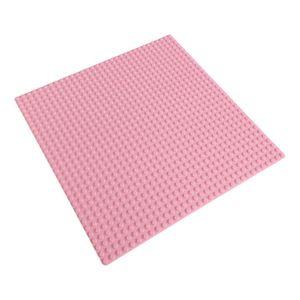 Platte 25,5cm x 25,5cm / 32x32 Pins, Große Grund- Bauplatte für Lego, Q-Bricks, MY, Sluban kompatibel, Grund-Platte, Rosa Puppenhaus, Mädchen