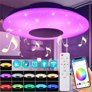 ECSEE Dimmbar Bluetooth Lautsprecher 60W LED Sternenhimmel Deckenleuchte APP Steuerung mit Fernbedienung VON Modatrade Team