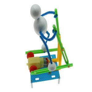STEM Toys Technologie Kleine Erfindung Fitness Roboter DIY Ellipsentrainer