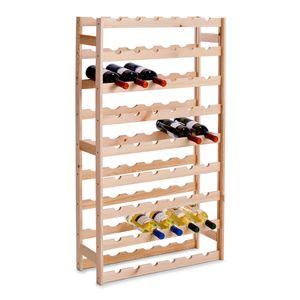 Zeller Flaschenregal/ Weinregal für 54 Flaschen, Kiefer              67,5x25x118
